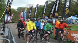 Riders at start