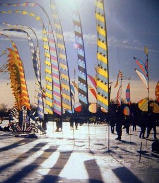 Bali Banners on Ice